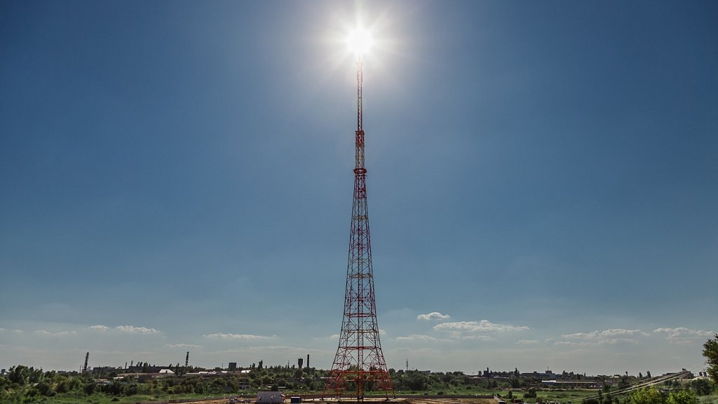 Телевышка РТРС в Волгограде. Промышленная фотосъемка