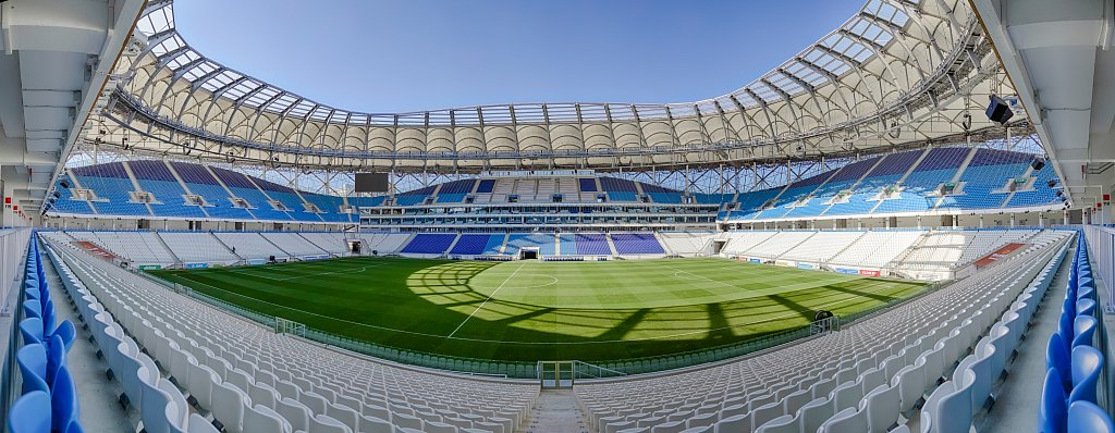 Панорамная фотография футбольного стадиона Волгоград Арена