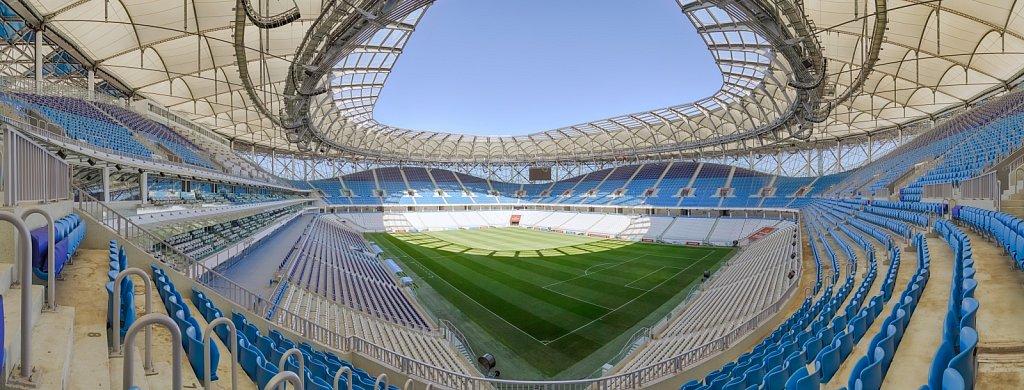 Панорама футбольного стадиона Волгоград Арена
