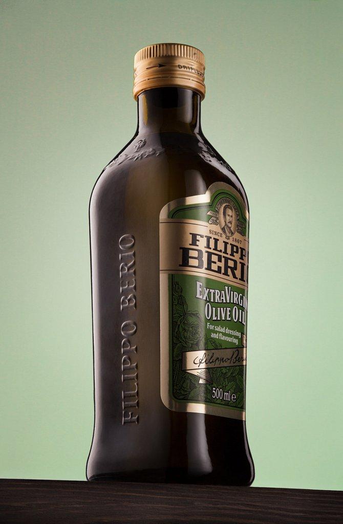 Bottle of Olive Oil. Filippo Berio Extra Virgin Olive Oil